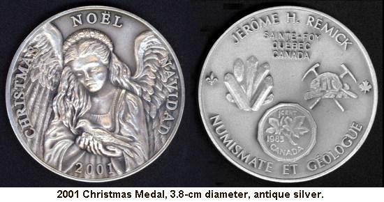 2001 Christmas Medal
