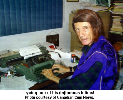 Typing one of his (in)famous letters!